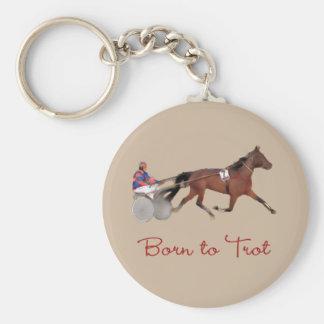 Born to Trot Keychain