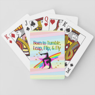 BORN TO TUMBLE GYMNASTICS PLAYING CARDS
