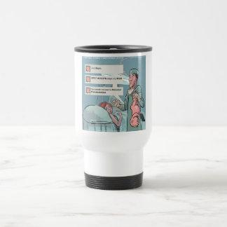 Born To Tweet Funny Cartoon Coffee Mug