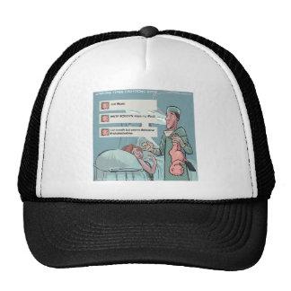 Born To Tweet Funny Cartoon Mesh Hat