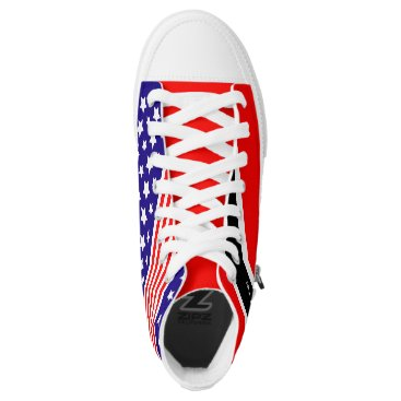 Beach Themed Born TriniMerican Patriot High-Top Sneakers