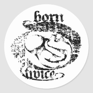 Born Twice Fetal Sugery Classic Round Sticker
