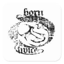 Born Twice Fetal Sugery Square Sticker