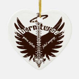 Born Twice Spina Bifida Fetal Surgery Angel Wings Ceramic Ornament