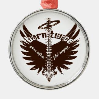 Born Twice Spina Bifida Fetal Surgery Angel Wings Metal Ornament