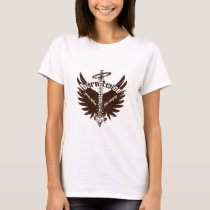 Born Twice Spina Bifida Fetal Surgery Angel Wings T-Shirt