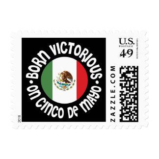 Born Victorious Cinco De Mayo Postage Stamp