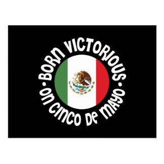 Born Victorious Cinco De Mayo Postcard
