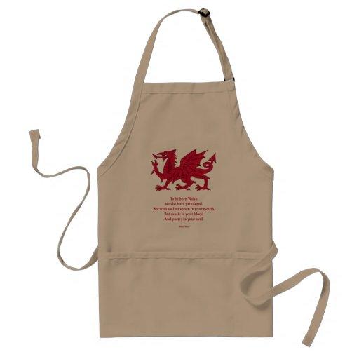 Born Welsh Poem with Dragon Apron