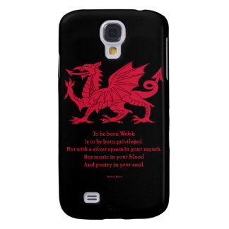 Born Welsh Poem with Dragon Galaxy S4 Cover