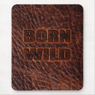 Born wild genuine leather mouse pad