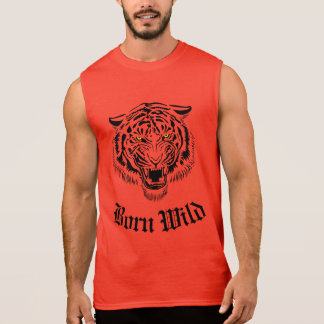 Born Wild Tiger Sleeveless T-shirts