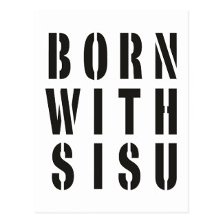 Born With Sisu Postcard