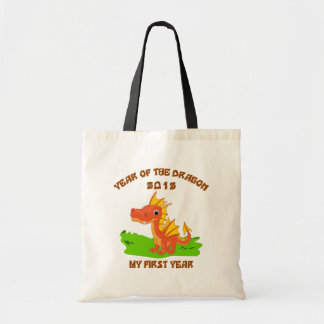 Born Year of The Dragon 2012 Baby Gift Tote Bags