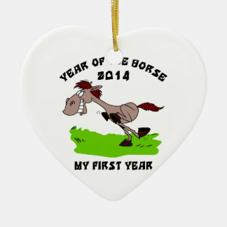 Born Year of The Horse 2014 Ceramic Ornament