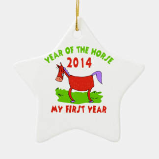 Born Year of The Horse Baby Ceramic Ornament