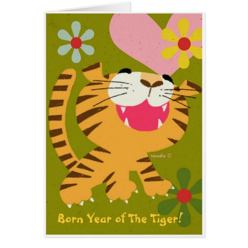 Born Year of The Tiger Greeting card
