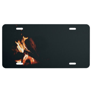 Borne Fire while camping License Plate
