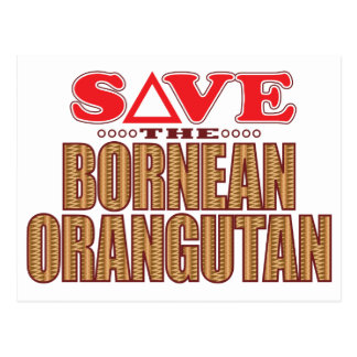 Bornean Orangutan Save Postcard