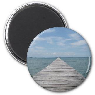 Borneo Boardwalk 2 Inch Round Magnet