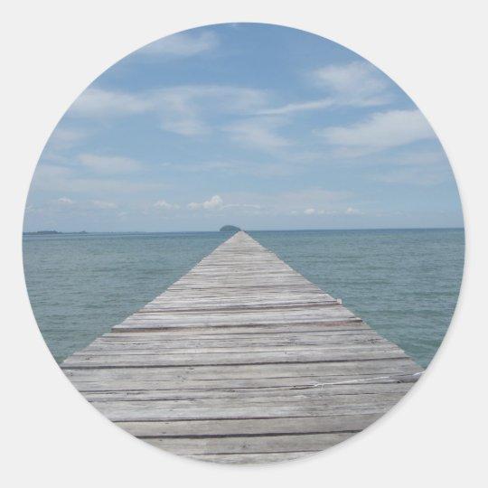 Borneo Boardwalk Classic Round Sticker