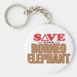 Borneo Elephant Save Basic Round Button Keychain
