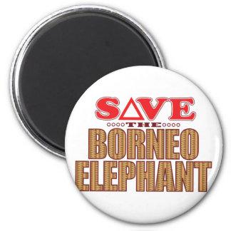 Borneo Elephant Save Magnet
