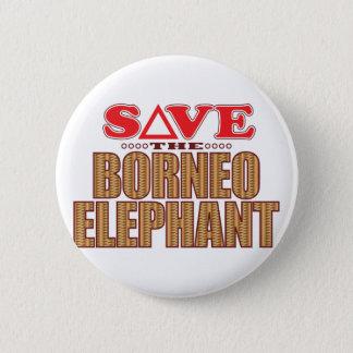 Borneo Elephant Save Pinback Button