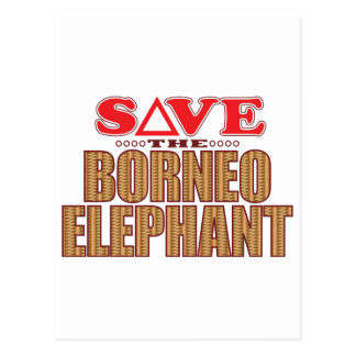 Borneo Elephant Save Postcard