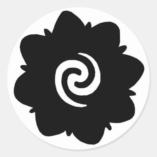borneo flower classic round sticker. Black Bedroom Furniture Sets. Home Design Ideas