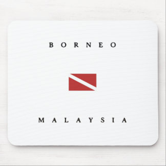 Borneo Malaysia Scuba Dive Flag Mouse Pad