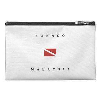 Borneo Malaysia Scuba Dive Flag Travel Accessory Bag