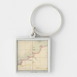 Borneo Oceania no 13 Silver-Colored Square Keychain