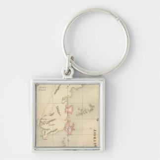 Borneo Oceania no 20 Silver-Colored Square Keychain