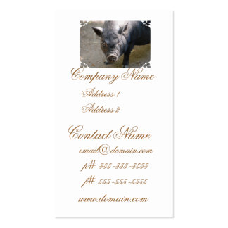 Borneo Pig Double-Sided Standard Business Cards (Pack Of 100)