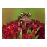 Borneo. Primer de la rana arbórea del canela en ro Tarjeta De Felicitación