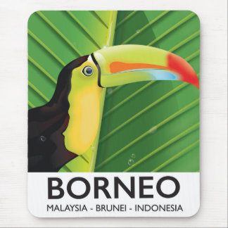 Borneo Toucan travel poster Mouse Pad