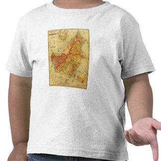 BorneoPanoramic MapBorneo Camiseta
