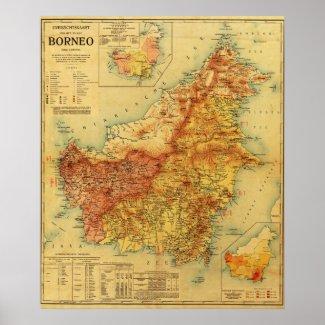 BorneoPanoramic MapBorneo Poster