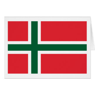 Bornholm Amt Flag Greeting Card