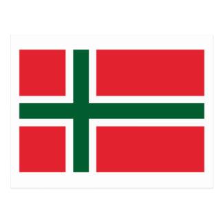 Bornholm Amt Flag Postcard