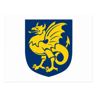 Bornholm Coat of Arms Postcard
