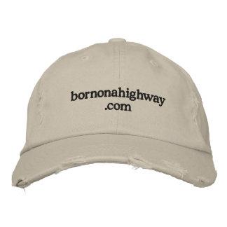 bornonahighway .com embroidered baseball cap