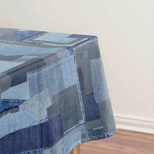 Merveilleux Boro Boro Blue Jean Patchwork Denim Shibori Tablecloth