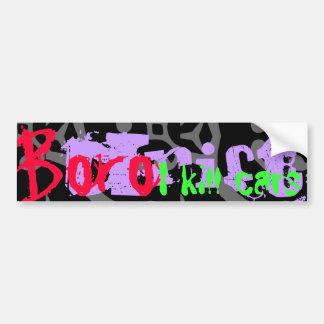 BORO DRIFT , Black Bumper Sticker