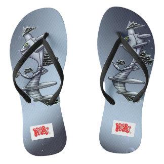 BORO SURFY ALIEN MONSTER Flip Flops SLIM STRAP