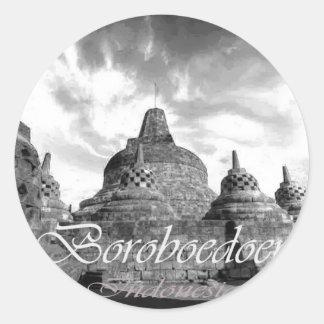 Boroboedoer Tample series of Classic Round Sticker