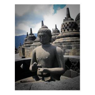borobudur temple postcard