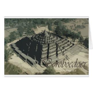 Borobudur Temple Screnary Greeting Card