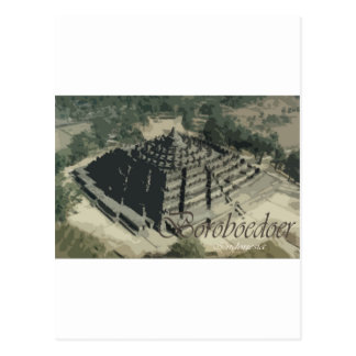 Borobudur Temple Screnary Postcard